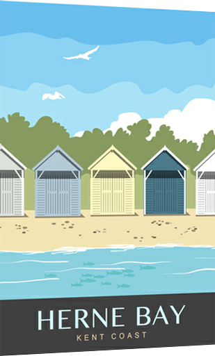 Herne Bay Beach Huts Portrait