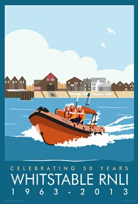 Whitstable RNLI 50th Celebrations Poster