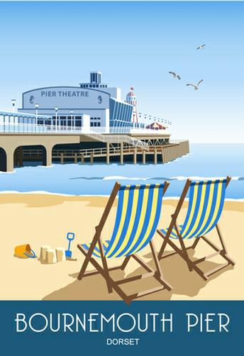 Bournemouth Pier and Deck Chairs