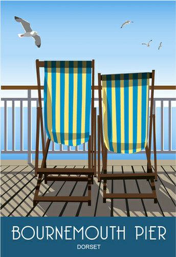 Deck Chairs on Bournemouth Pier
