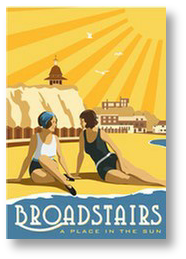 Vintage style travel poster of Broadstairs