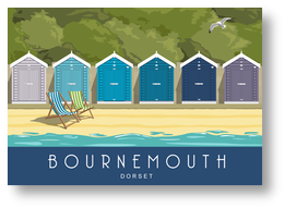 Bournemouth Beach Huts Blue