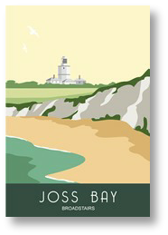 Joss Bay with the North Foreland Lighthouse