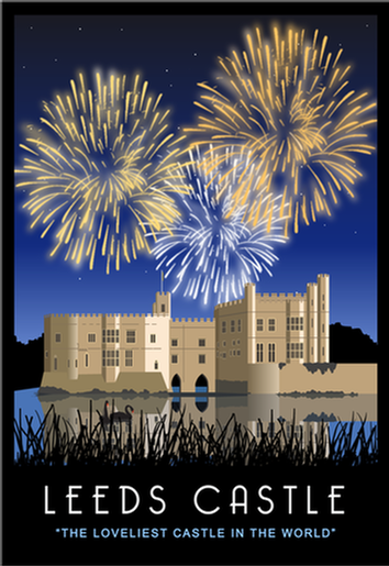 Fireworks over Leeds Castle