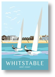 Sailing out from Whitstable